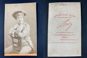 Nadar, Paris, Wilson, comédienne Vintage cdv albumen print CDV, tirage albumin