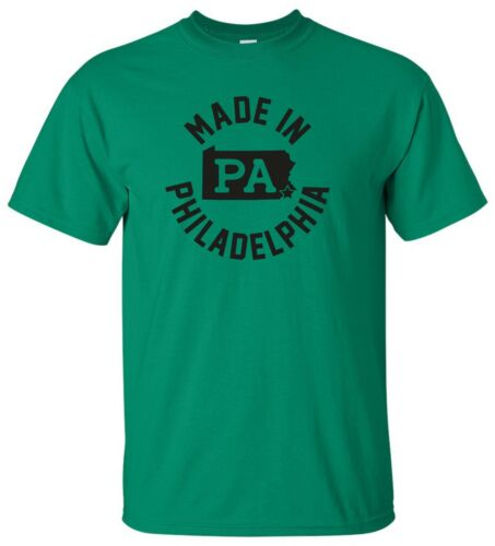 "/""Made in Philadelphia/"" T-Shirt philly eagles sixers phillies 76ers super bowl"