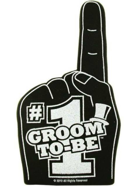 Groom To Be Foam Hands