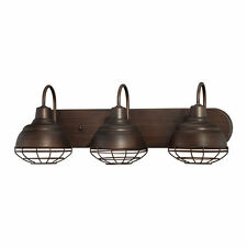 Millennium Lighting 5423 Rubbed Bronze Neo-Industrial 3 Light Bathroom Vanity