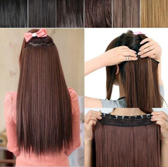 Haarverlängerung glatt 36 oder 56cm Clip in Extensions Haarteil Haarverdichtung