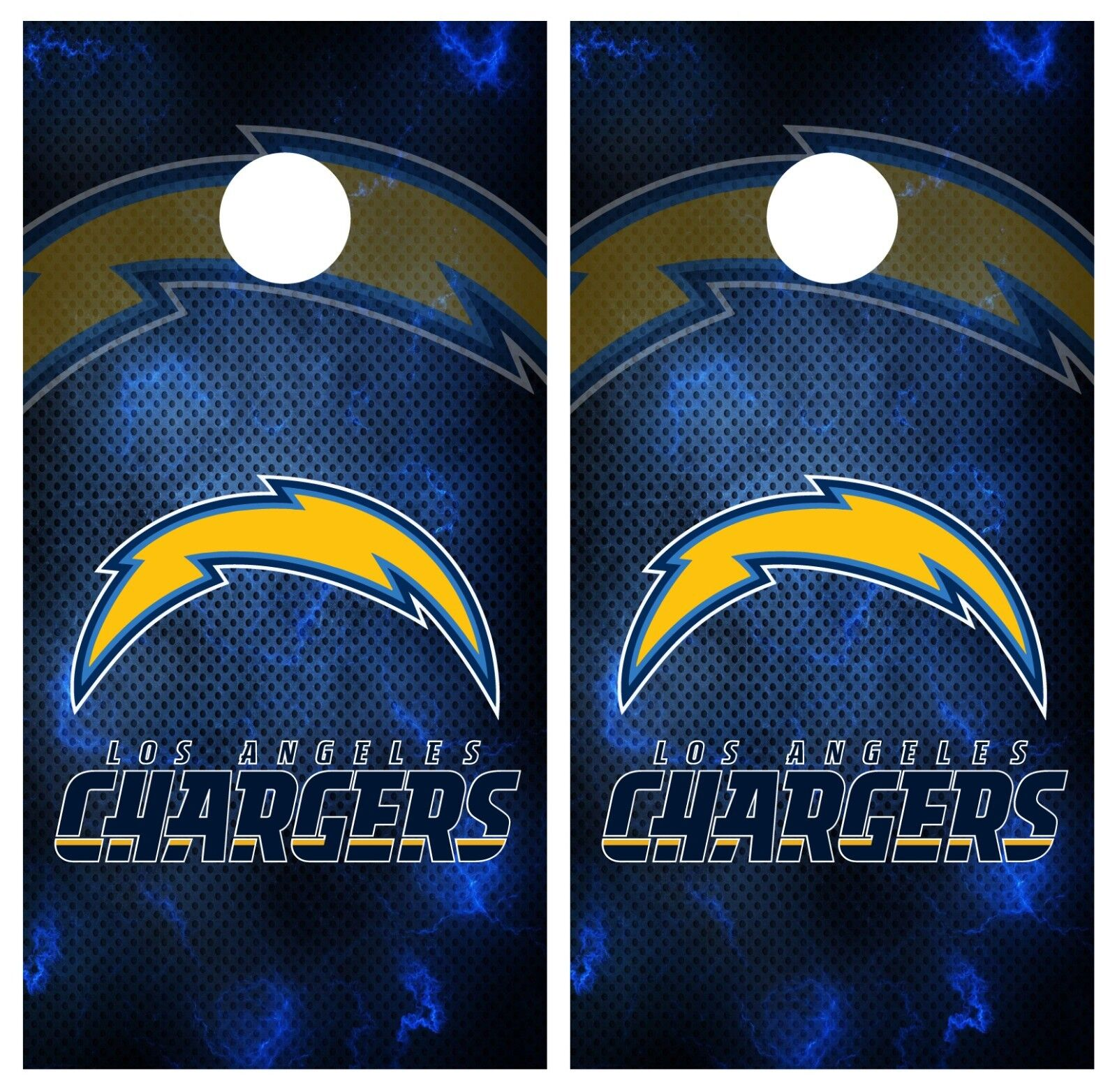 Los Angeles Chargers Cornhole Board Wrap Skins  Vinyl HIGH QUALITY 3M Laminated  buy 100% authentic quality