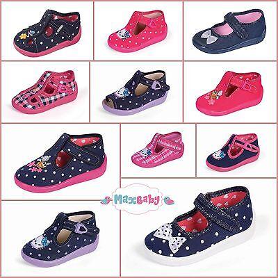 Pantofole Per Bambine Bambini Nursery Autunno Inverno Scarpe Soletta In Pelle Misura Uk 3.5–7-