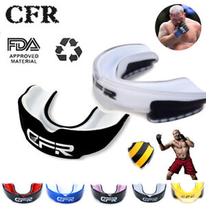 CFR Senior Mouth Guard Teeth Protector Gel Gum Shield Boxing MMA Rugby