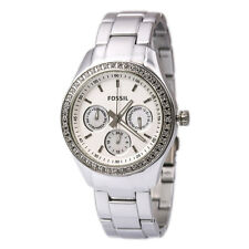 Fossil Stella Multifunction Silver Aluminum  Pearl Women Watch 38mm ES2947 $135