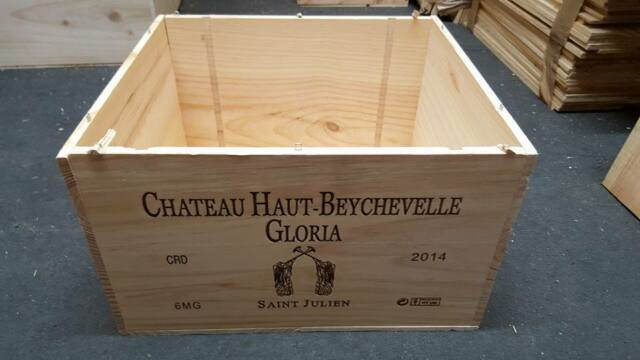 3 X Magnum French Wooden Wine Crate Boxes Christmas Hampers Drawers Storage