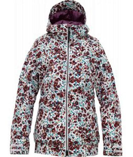 Burton Donna Twc Hot Tottie Giacca da Snowboard (M) Bianco Brillante Floreale