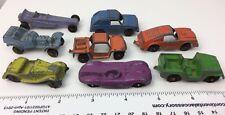 Tootsietoy Die-Cast 8 Cars Baja MG Rod Wedge Dragster Jeep Rabbit Jaguar Repairs