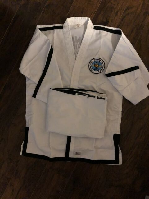 ITF White with Black Trim TaeKwonDo Uniform