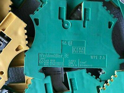 Weidmuller WPE 2.5 Ground Terminal Block 2 each USNP