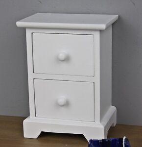 kommode klein wei holz schmuckkiste schmuckschrank tischkommode schmuck shabby ebay. Black Bedroom Furniture Sets. Home Design Ideas