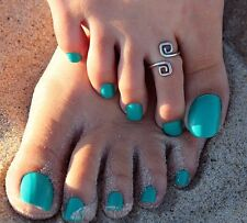 Womens Vintage Silver Toe Ring Adjustable Foot Beach Feet Jewelry Gift Uk  (448)