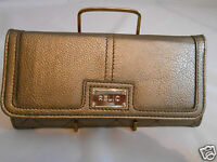 Relic By Fossil Accordion Clutch Wallet - Snap Close/back Change Pocket - Pewter