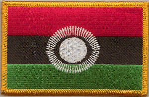 Malawi 2010 Country Flag Embroidered Patch T8
