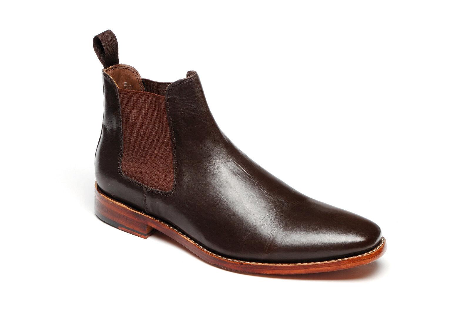 Da Uomo Catesby la 3013 marrone in cuoio tutte GOODYEAR la Catesby Suola Chelsea Stivali bcf178