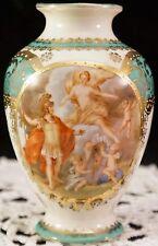 Vase Imperial Crown China Austria Portrait Grecian Soldier Nude Lady Cherubs
