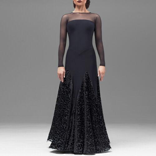 Latin Ballroom Competition Dance Dress Modern Waltz Tango Standard Dress#Y018