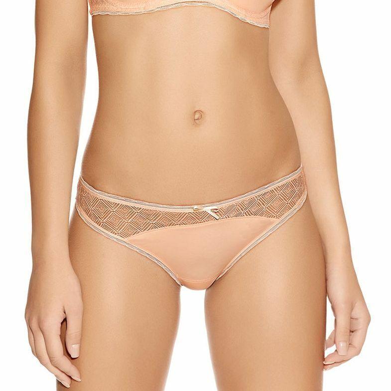 Freya Brazilian Thong Deco Vibe 8 10 12 14 16 18 Mocha Brown Mesh Knickers 1707