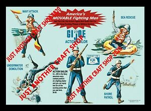 GI-Joe-Vintage-1964-Action-Sailor-Navy-Poster-Shop-Display-Sign-Advert-A3-size