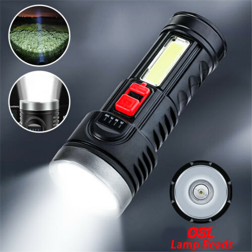 Super Bright 10000000LM LED Torch Tactical Flashlight USB Rechargeable Battery