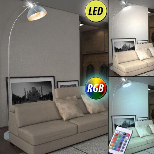 RGB LED Bogen Lampen Wohn Raum Farbwechsel Fernbedienung Steh Leuchten beweglich