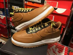 613de36e97cc Nike Lunar Force 1 Duckboot Low Ale Brown White AA1125 200 Men