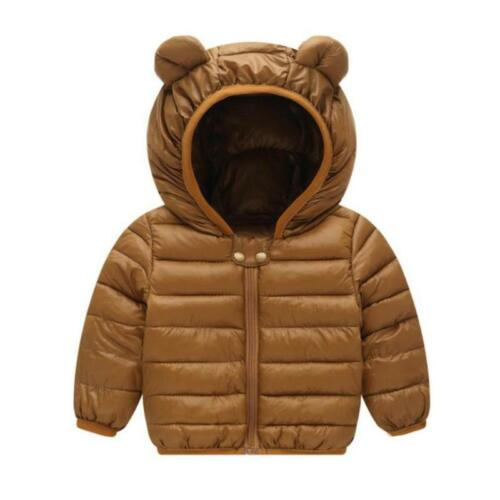 Winter Warm Jacket For Boys and Girls Autumn hooded Coats Baby Down Jackets