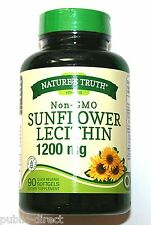 Non GMO Sunflower Lecithin 1200 mg 100 Softgel Heart Health Capsules Energy Pill