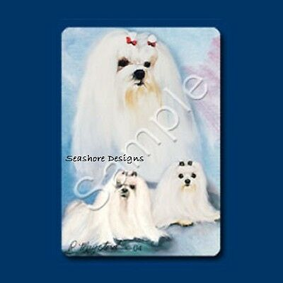 New Maltese Dog Poker Playing Cards Deck of Card Ruth Maystead 3 White Dogs