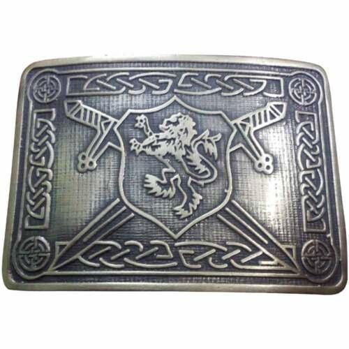 Saltire León Rampante Kilt Acabado Antiguo Hebilla de Cinturón//Cinturón Hebillas highland kilt