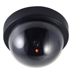 cctv dome kamera ip 1800 rot led licht dome kuppel berwachungskamera dummy ebay. Black Bedroom Furniture Sets. Home Design Ideas