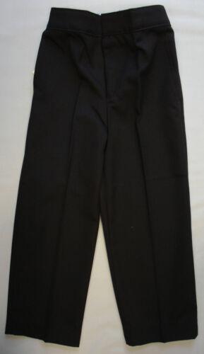 Boys School Uniform Trousers Bottoms Black Grey Navy Teflon Elasticated Zip Clip