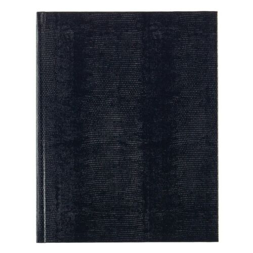 """A10 - 10 3//4/"""" x 8 1// 2/"""" Black or Blue Blueline Executive Journal//Notebook"""