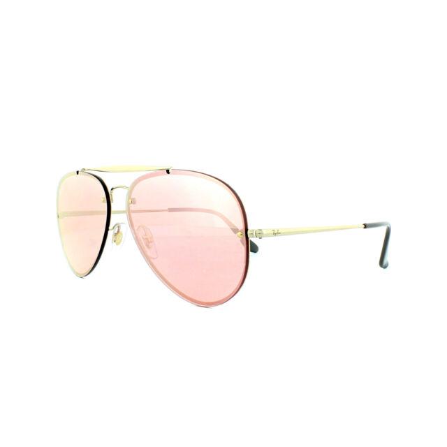 9f4b3f7dfcc85 Ray-ban gafas de Sol Blaze aviador 3584n 9052e4 oro Rosa espejo ...
