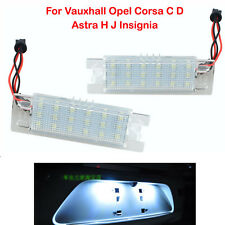 18 LED Number License Plate Light For Opel Vauxhall Corsa Astra Zafira Insignia