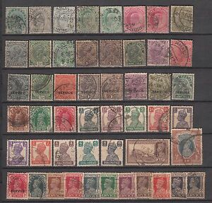 British-India-50-Different-Stamps-of-Queen-Victoria-King-Edward-amp-George-V-amp-VI