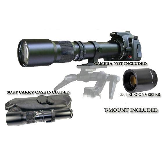500mm/1000mm Lens for Canon EOS Digital Rebel 7D 60D 60Da T3i T6i T5i T3 XS 600D