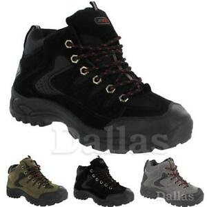 edb46ccc29d Details about MENS HIKING BOOTS WALKING ANKLE HIGH TOP TRAIL TREKKING BOOT  TRAINERS SIZE 7-12