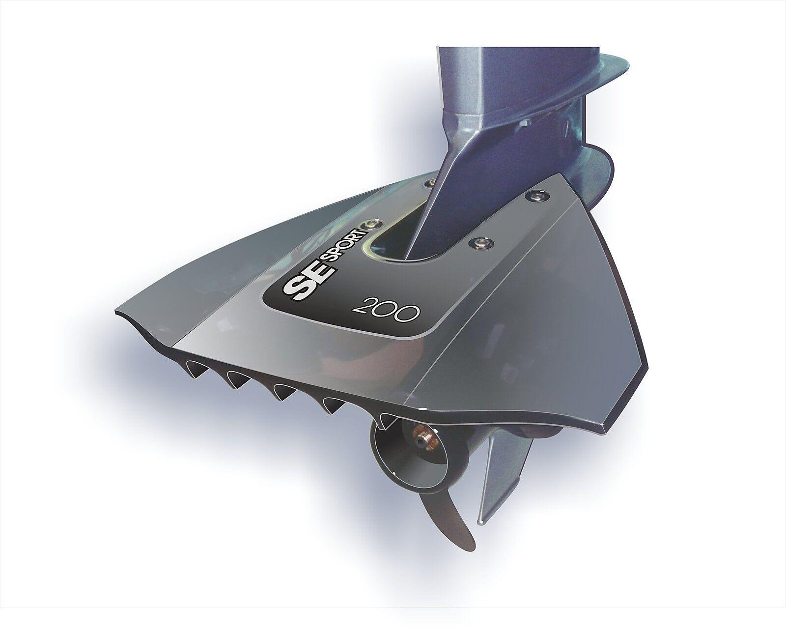 SE SPORT 200 Hydrofoil in GRAU für Aussenborder von 8-40 PS PS 8-40 Stabilisator 5f53d5