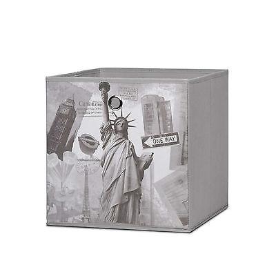 Faltbox Flori 1 Korb Aufbewahrungsbox Regal City grau Box 32x32x32cm