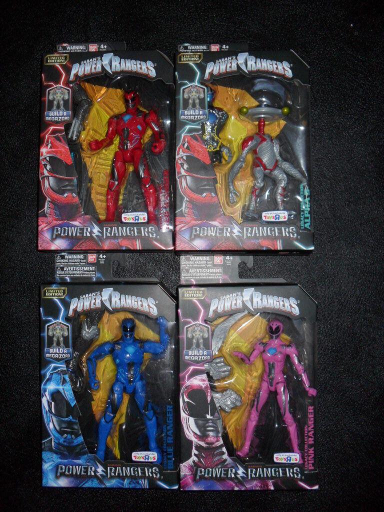 NOUVEAU Power Rangers Movie Figure Lot Rouge Bleu Rose Alpha construire Megazord Legacy Tru