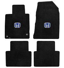 NEW! 2010-2015 Black Floor Mats Honda Accord Crosstour Blue H Embroidered Logo