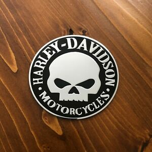 New-Harley-Davidson-Chrome-Motorcycles-Emblem-Sticker-Badge-Logo-3-5-034-90mm-HD