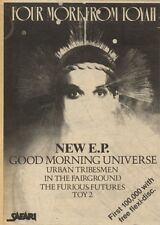 21/11/81PGN63 ADVERT: 4 TRACK E.P FROM TOYAH GOOD MORNING UNIVERSE 7X5