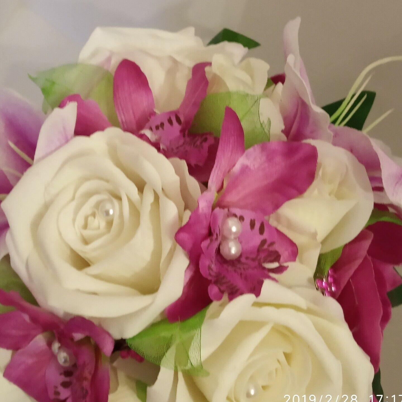 Wedding BOUQUET , large teardrop teardrop teardrop bouquet viola & ivory 6ea2b4
