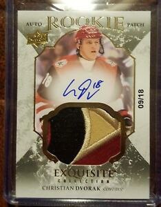 2016-17-Upper-Deck-The-Cup-Exquisite-Christian-Dvorak-Rookie-9-18-SSP-RPA-HOT