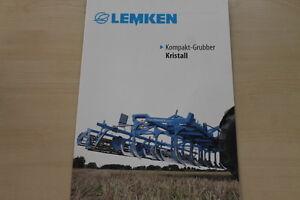 158059) Lemken Grubber Cristal Prospectus 02/2012-afficher Le Titre D'origine Style à La Mode;