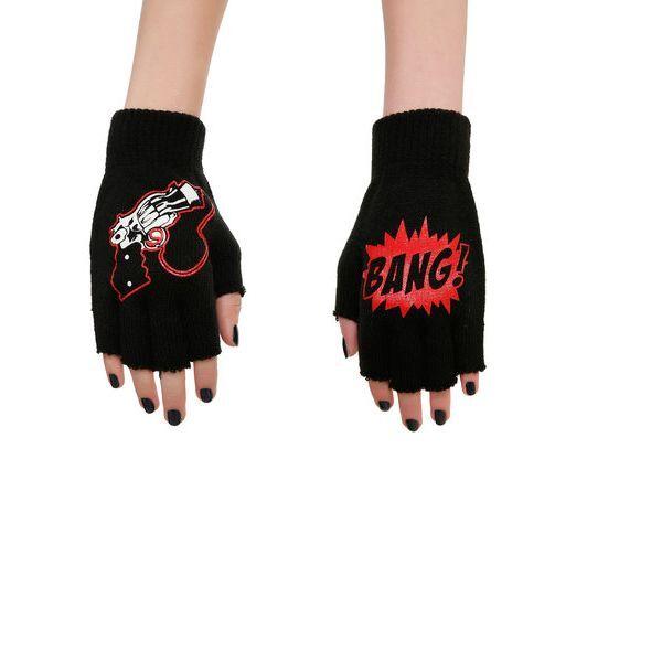 Harley Quinn Pop-gun Knit Fingerless Gloves Official DC Comics ...