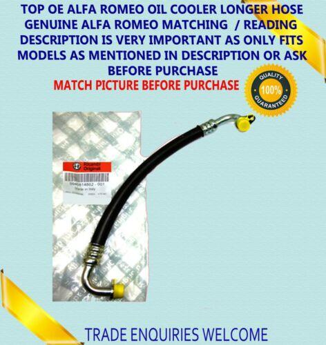 Alfa Romeo 147 156 GT 1.9 16 V JTD Refroidisseur D/'Huile Tuyau Tuyau 46814862 NEUF /& AUTHENTIQUE