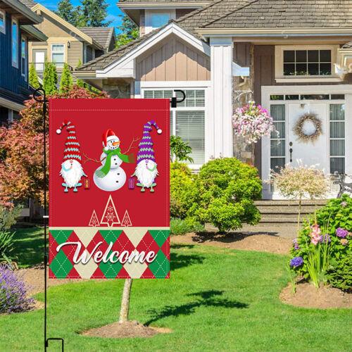 Christmas Garden Flag Santa Truck Single-sided Banner Hanging Lawn Home Decor